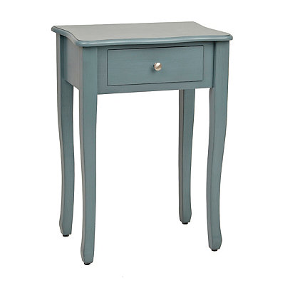 Adeline Blue 1-Drawer Side Table