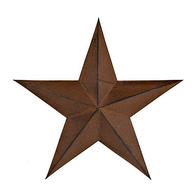 Distressed Bronze Rustic Star Metal Plaque, 18 in.