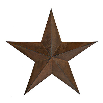 Distressed Bronze Rustic Star Metal Plaque, 24 in.
