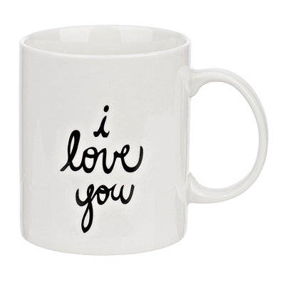 I Love You Porcelain Mug