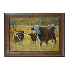 Golden Steers Framed Art Print