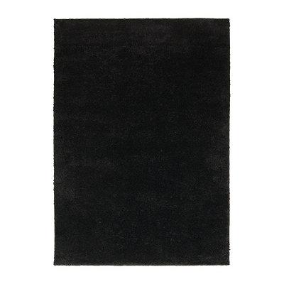 Black Helena Shag Area Rug, 7x9