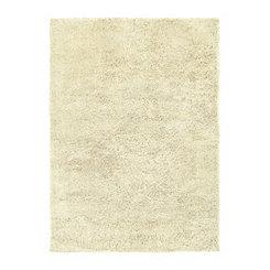 Ivory Helena Shag Area Rug, 7x9
