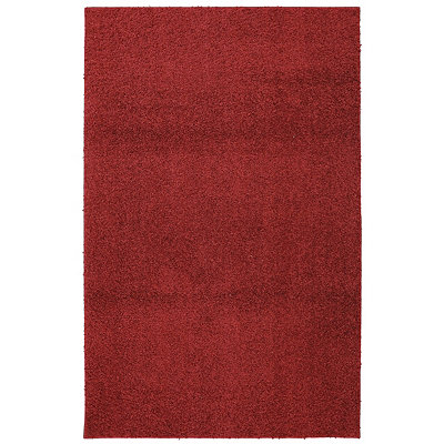 Red Helena Shag Area Rug, 5x7