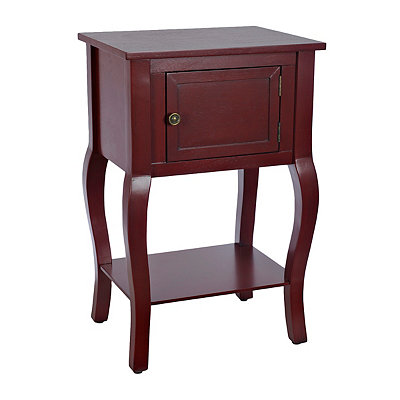 Red Cabriole Side Table