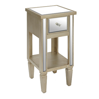 Natural Mirrored Side Table