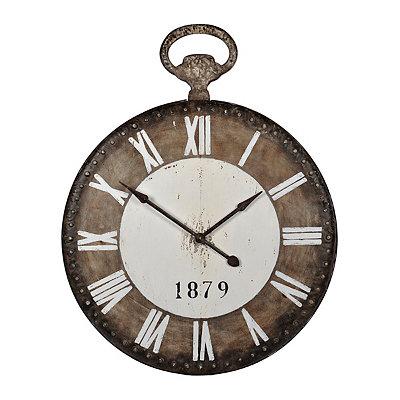 Rustic Dabney Metal Clock