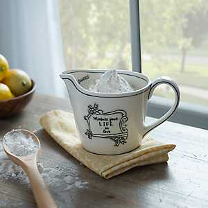 Black and White Measure Your Life Measuring Cup
