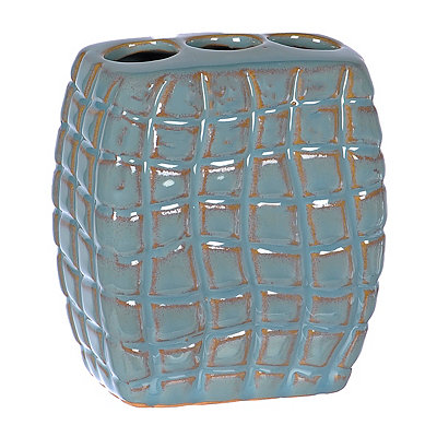 Blue Shimmer Scales Toothbrush Holder