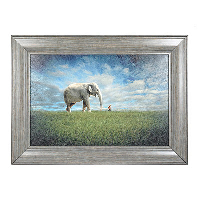 Follow Me Elephant Framed Art Print