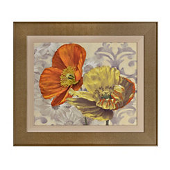 Poppy Pair Framed Art Print