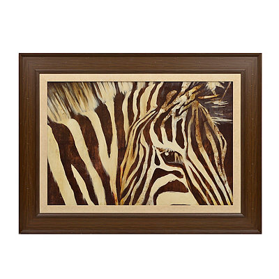 Up-Close Zebra Framed Art Print