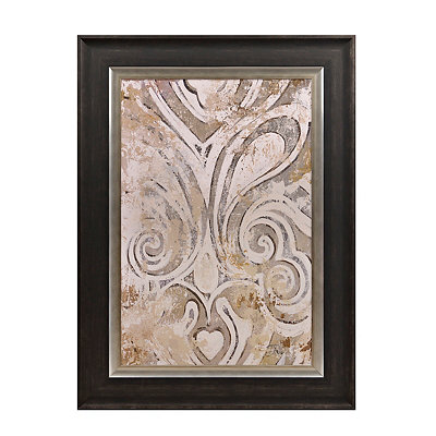 Neutral Flourish Framed Art Print