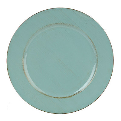 Distressed Blue Round Ella Charger