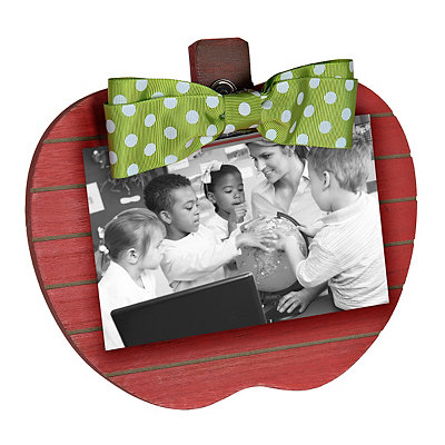 Red Apple Clip Picture Frame, 5x7