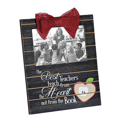 Best Teachers Wood Plank Picture Frame, 4x6