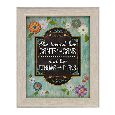 Jeweled Dreams Into Plans Framed Art Print