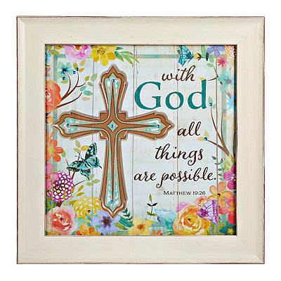 Jeweled All Things Are Possible Framed Art Print