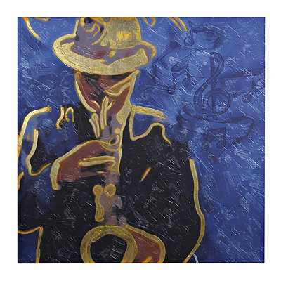 Saxophonist Canvas Art Print