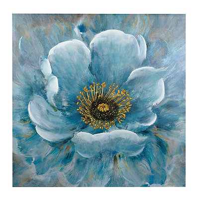 Blue Flower Canvas Art Print