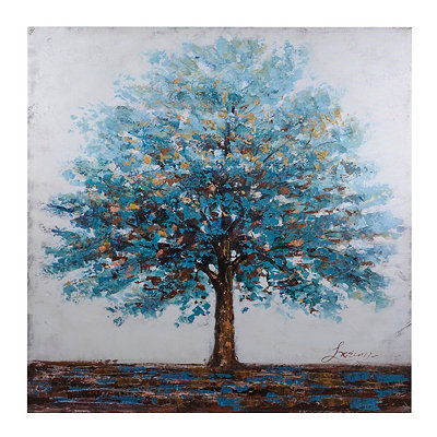 Magical Blue Tree Canvas Art Print