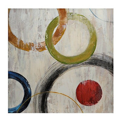 Multi Color Circles Canvas Art Print