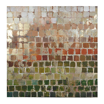 Golden Grid Canvas Art Print