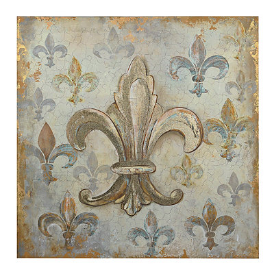 Gold Fleur-de-Lis Canvas Art Print