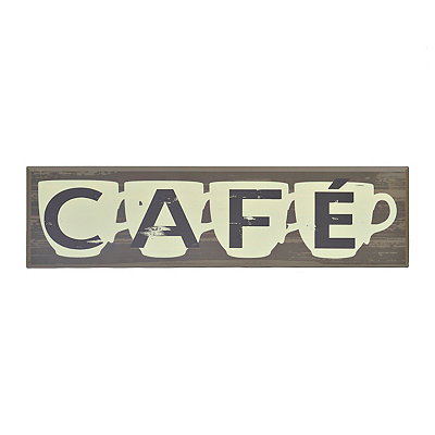 Cafe Sign Plaque