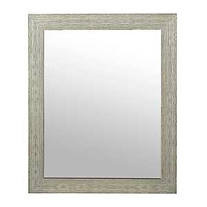 Tan Weathered Wood Framed Mirror, 27.5x33.5 in.