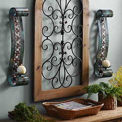 Emery Turquoise Scroll Sconces, Set of 2