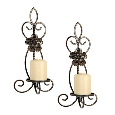 Floral Bronze Nora Sconces, Set of 2