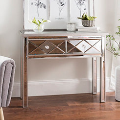Diamond Mirrored Console Table