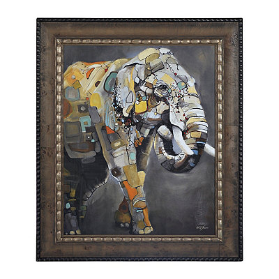 Elephant Delineation Framed Art Print