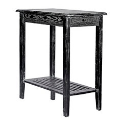 Black Wash 1-Drawer End Table