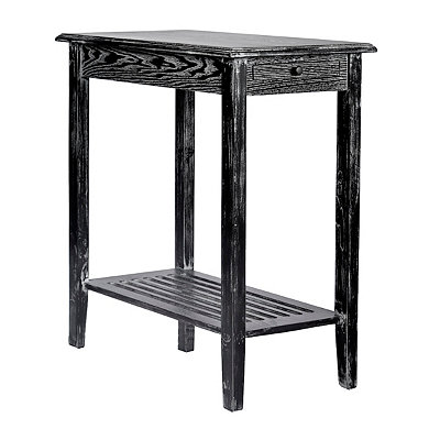 Black Wash 1-Drawer End Table