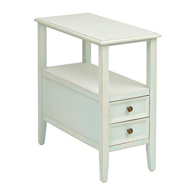 Blue 2-Drawer End Table
