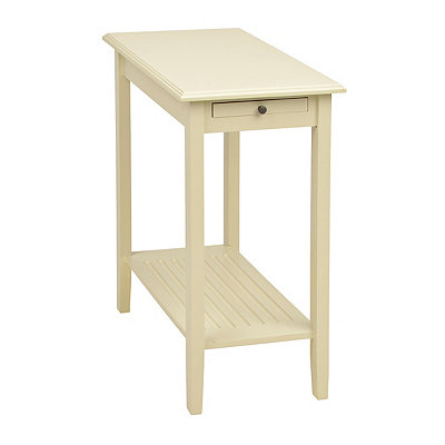 Cream 1-Drawer End Table