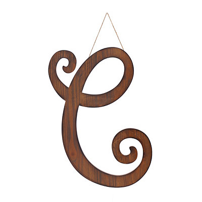 Brown Woodtone Monogram C Plaque