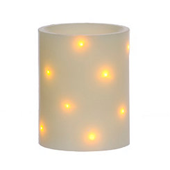 Sparklin Lights LED Flameless Pillar Candle, 4 in.