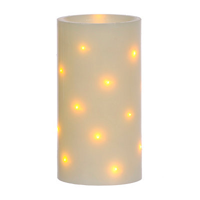 Starry Light LED Pillar Candle, 6 in.