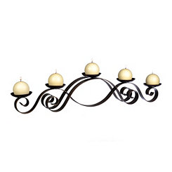 Bronze Curls Pillar Candle Runner
