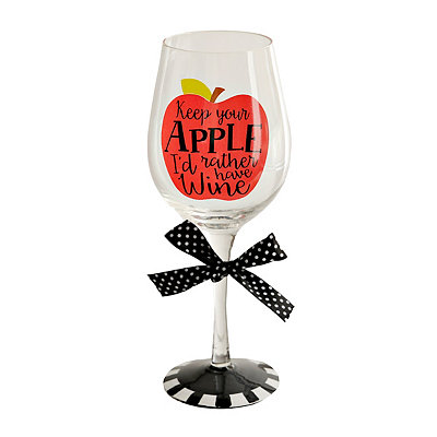Keep Your Apple Wine Glass