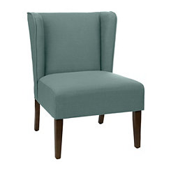 Blue Wing Back Accent Chair