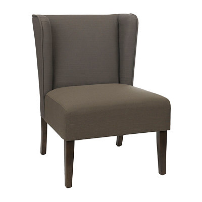 Gray Wing Back Chair