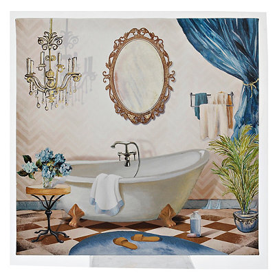 Blue Bath I Canvas Art Print