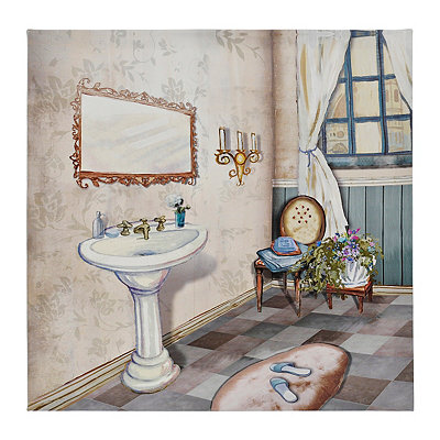 Blue Bath II Canvas Art Print