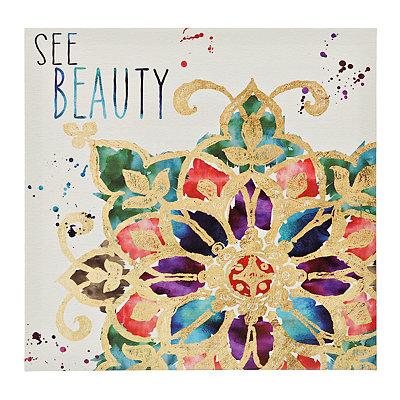 Beauty Medallion Tile Canvas Art Print