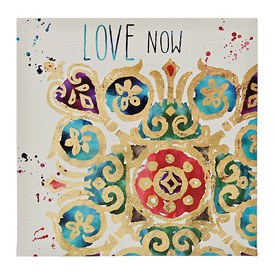 Love Medallion Tiles Canvas Art Print