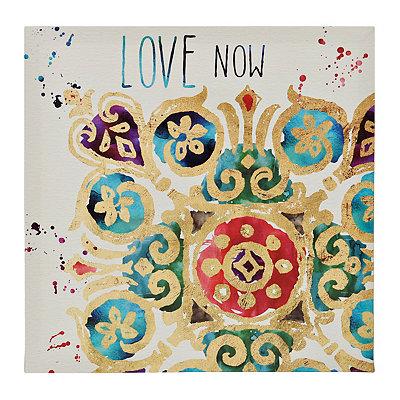 Love Medallion Tiles Canvas Art Print